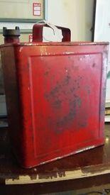 Red Old Vintage Antique Good To Use, Gasoline Canister