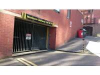 City centre secured underground parking to let