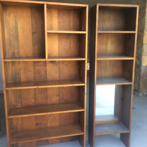 Three Solid Wood Antique Bookcases