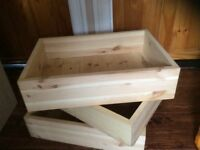 3 strong pine storage boxes (Shabby Chic/Upcycle)