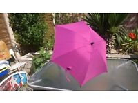 Mamas and Papas umbrella parasol sun shade purple