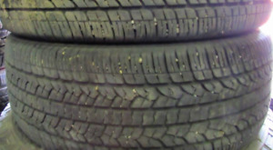 2 Tires sized P245.55.19 at 85% Tread left on them Selling for $