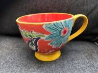 A pair of Anthropologie Decorative Cappuccino Cups