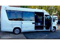 BLACKPOOL MINIBUS HIRE WITH DRIVER 07834 953362