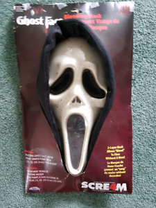 Scream mask with fake blood