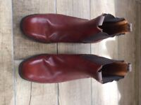Light Brown Leather Jodhpur Boots (Size 10) Vintage but still good condition!
