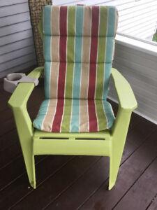 Chaise Adirondak avec coussin