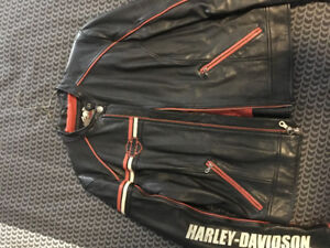 Harley Davidson leather bikers jacket