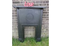 Stunning Reclaimed Vintage Cast Iron Fireplace Fire Surround Uk Delivery