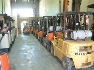 Forklifts Electric and Propane over 150 in stock