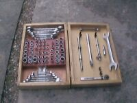 Full set metric and imperial sockets and spanners