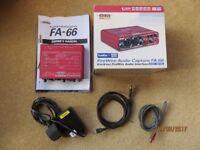 Edirol FA-66 firewire audio interface. For recording audio & midi with PC or mac