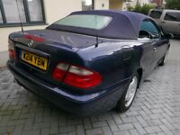 Mercedes CLK convertable 320 V6 auto w/tiptronic, midnight blue, full leather, electric everything