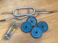 Cast iron free weights and bars ****SOLD******