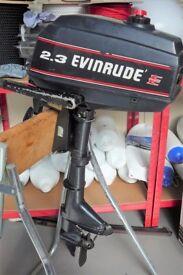 EVINRUDE 2.3hp OUTBOARD ENGINE SHORT SHAFT / 2 STROKE