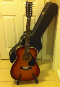 Yamaha FG-412SB 12 String Guitar, Case and Stand