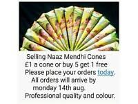 Naaz mendhi henna cones