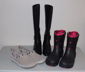 Crocs and Nine West Women-Girls shoes - 3 pairs