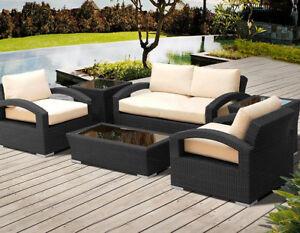 BLOWOUT - Ensemble patio avec 4 places