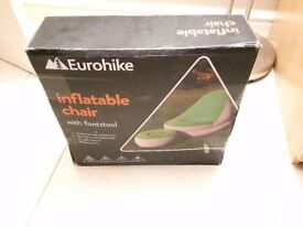 Delux Eurohike Inflatable Chair and Footstool BRAND NEW IN BOX