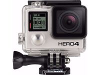 go pro hero 4 black, lcd screen, waterproof case,2 battery's, sandisk 64gb sd card and loads more...