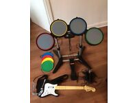 Rock band Guitar + Drums + 2 x Microphones (Xbox 360)