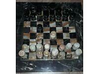 Chess Set Onyx Marble (hand carved)