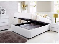 White Double lift-up storage bed