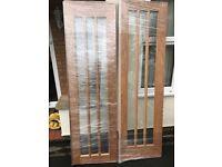 Oak Worcester clear glazed 1173 rebated pair maker brand new