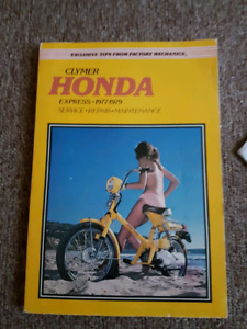 Clymer Honda express 1977, 78, 79 repair manuel