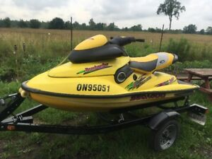 1997 Sea Doo XP with Trailer and Parts Machine
