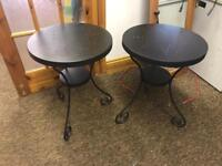 X2 small outdoor tables