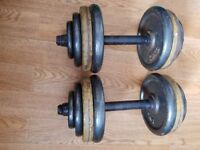Pair of 15kg dumbbells..30kg total