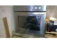 New World stainless steel oven and hob