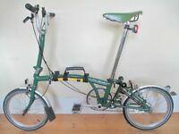 B-Spoke Brompton Folding Bike With Brooks Saddle & Accessories