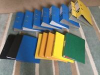 A4 lever arch files and A4 ring binder.s