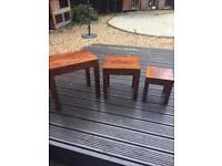 Sheesham nest of 3 tables