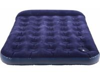 Argos double air bed with built-in pump.