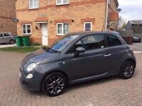 2015 FIAT 500 S 1.2 GREY, MILEAGE 22000, FULL SERVICE HISTORY, ONE PREVIOUS OWNER