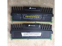 Corsair Vengeance 8 GB (2 x 4 GB) DDR3 1600 MHz CL9 XMP Performance Desktop Memory Kit - Black