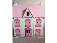 Country Cottage Wooden Dolls House