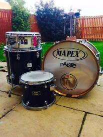 Mapex Venus series drum kit with premier snare and Pearl hardware/ Cymbal Stands & mounts