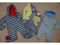 Boys SNOW SUITS/PRAM SUITS - WINTER BUNDLE age 6 - 9 months