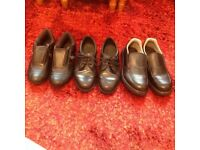 THREE PAIRS BLACK SHOES SIZE 6 (TWO Pairs are steel toe cap)
