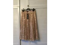 Little Mistress London Sequinned Party/ Evening/ Occasion Skirt- Size 10 Brand New