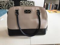 Kate Spade black and white leather handbag