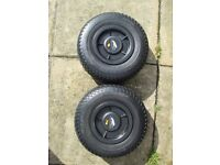 powakaddy pneumatic wheels in great condition.used a few times from new.