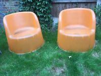 COLLECT TODAY -Garden chairs