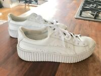 FENTY by Rihanna PUMA white vinyl trainers - size 6 - very good condition