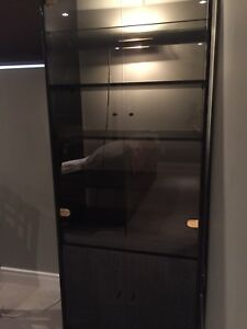 Black cabinet with light
